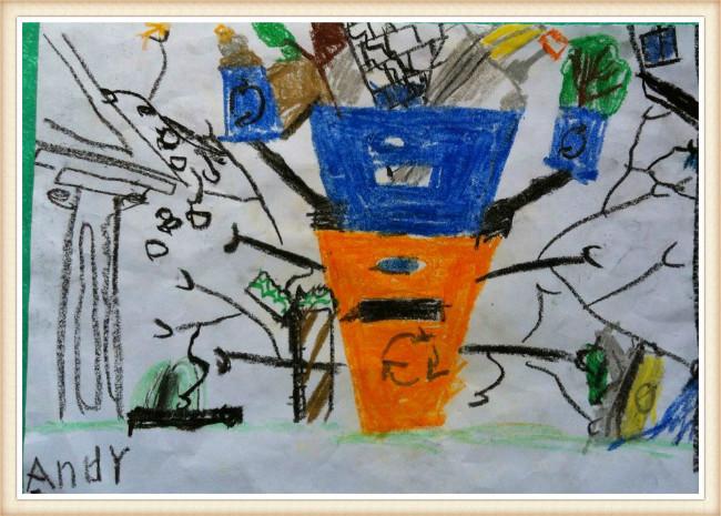 有感于美国良好的回收理念,我也要设计一个机器人垃圾桶.图片